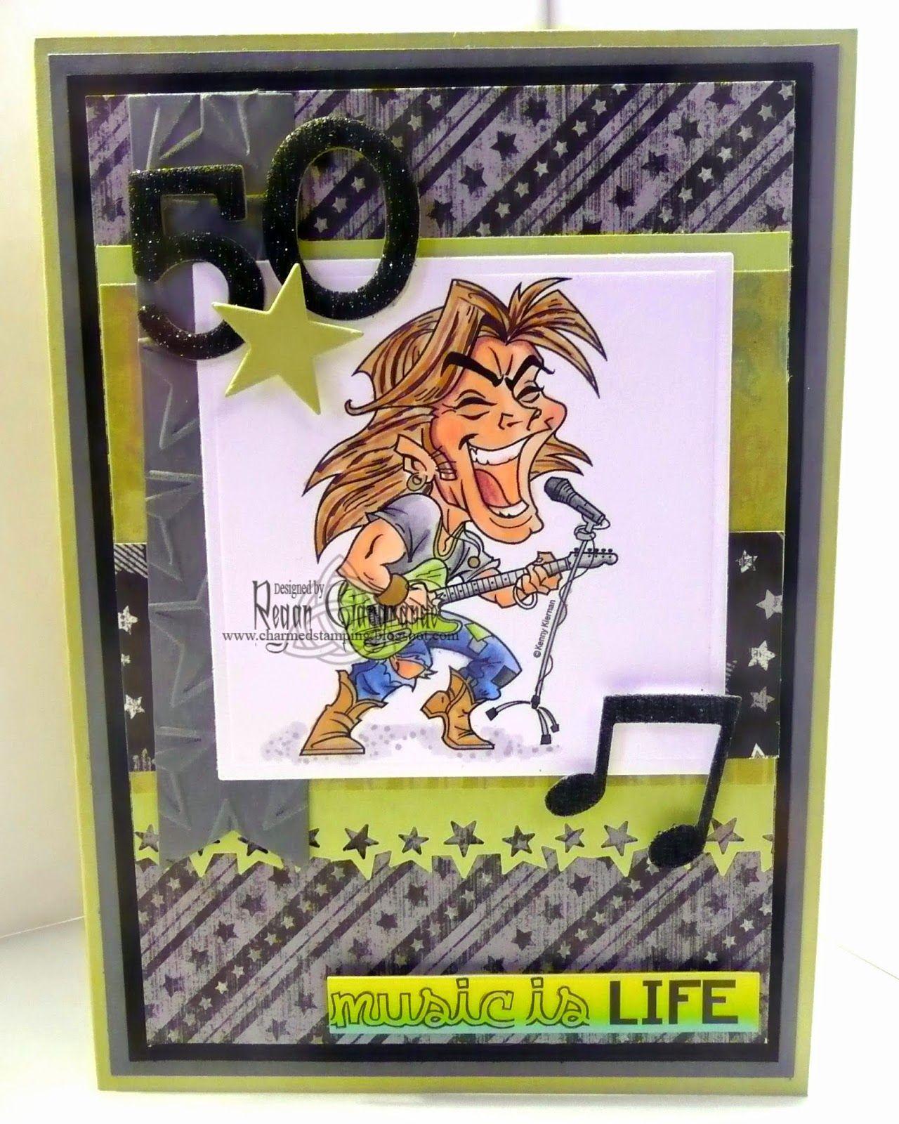 Charmed stamping kenny k rock dude handmade card th birthday my