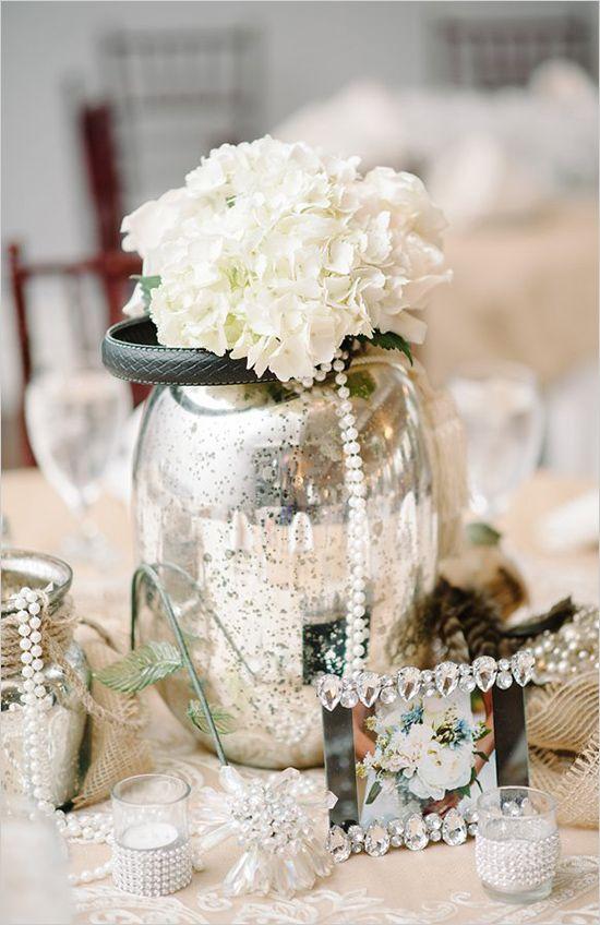 shabby chic silver wedding ideas #weddingreception #shabbychic #weddingchicks http://www.weddingchicks.com/2014/04/10/blue-and-ivory-shabby-chic-wedding/