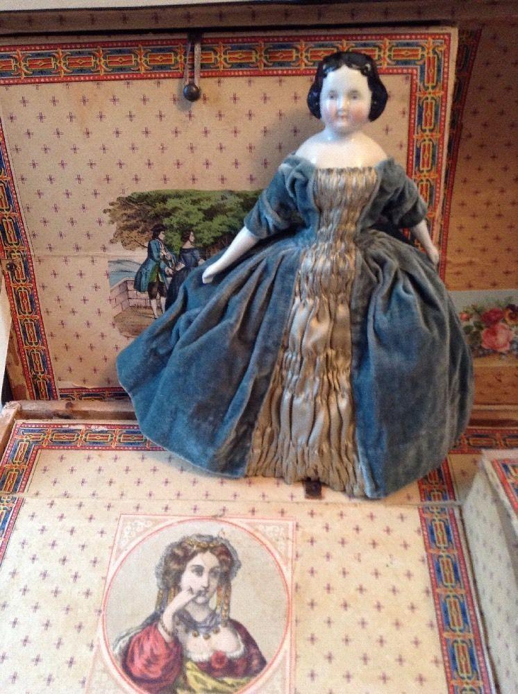 "~ Wonderful!! Antique 9"" China Doll ...Missing One Foot ~"