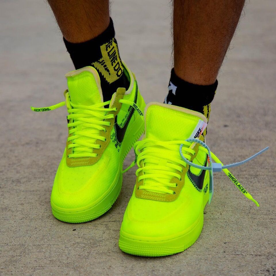 "Off White X Nike Air Force 1 ""Volt"