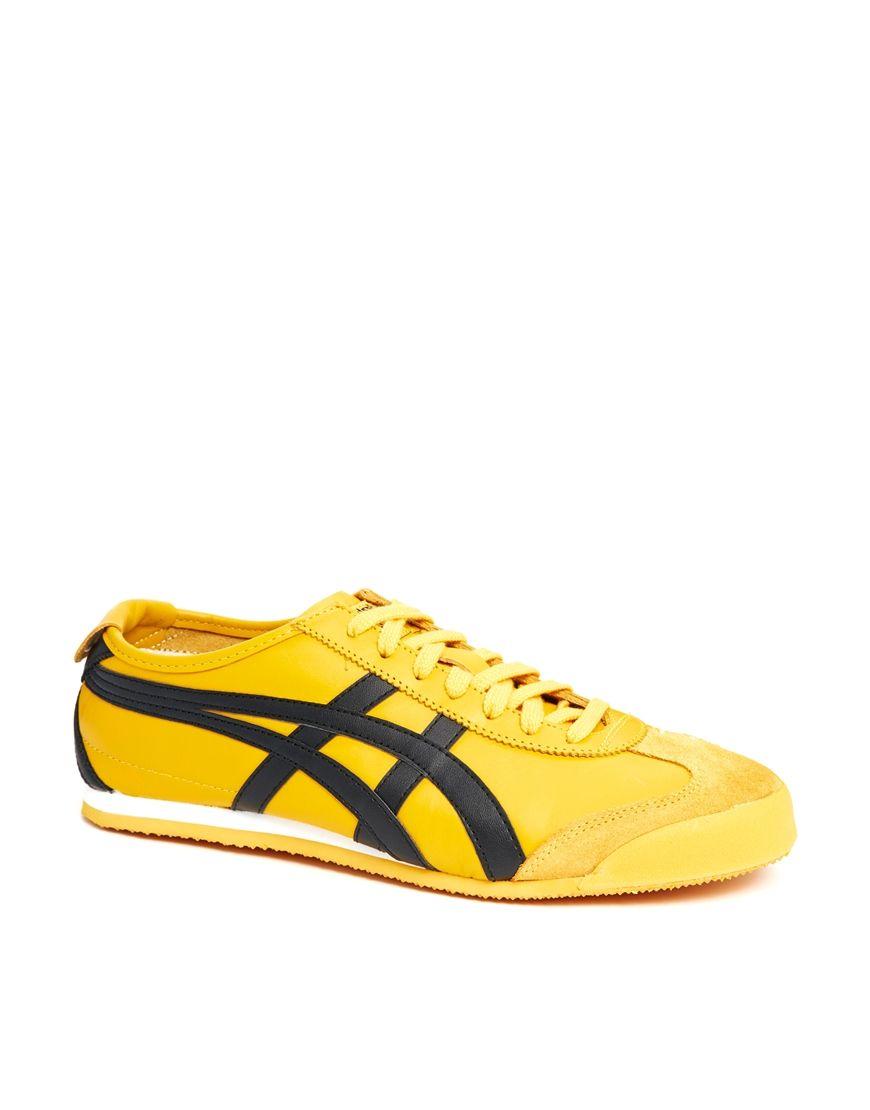 onitsuka tiger mexico 66 yellow zip tie