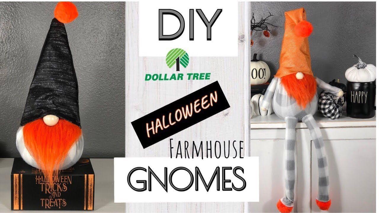 DIY DOLLAR TREE FARMHOUSE GNOMES/NO SEW/HALLOWEEN 2019