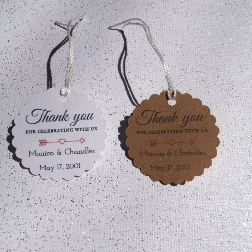 20 Thank you personalized handmade wedding favor tag Thank You tags ...