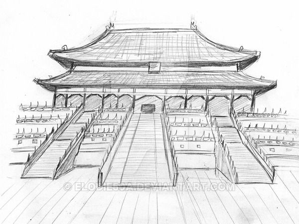 Pin By Polly Duff On The Magic Pencil Background Drawings Chinese Pagoda City Drawing Architecture Drawing Forbidden City