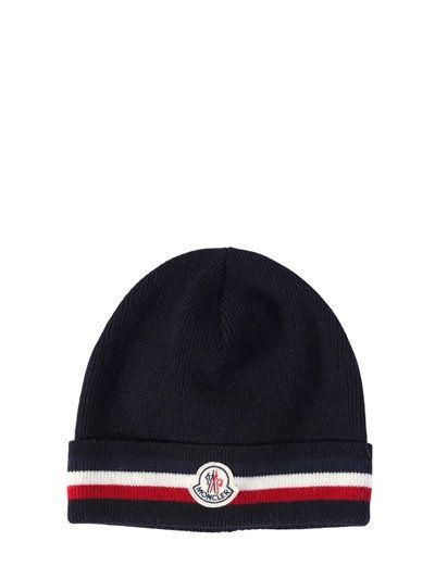 81864579c40 MONCLER Striped Wool Hat