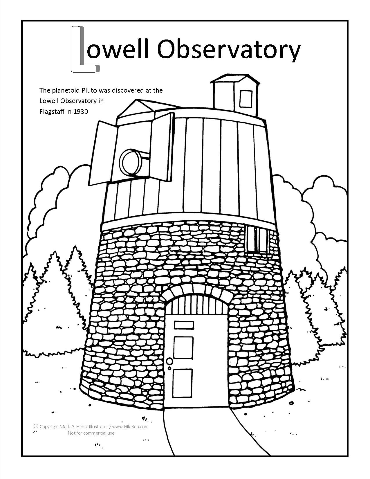 Lowell Observatory Coloring Page At Gilaben