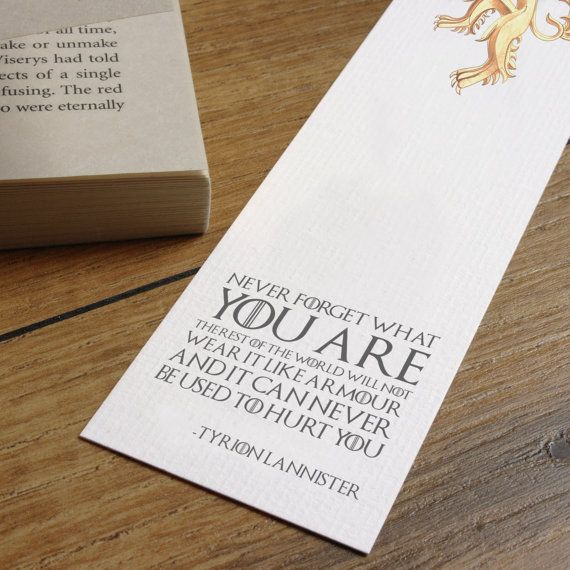 Game Of Thrones Friendship Quotes: Game Of Thrones Quote Bookmark