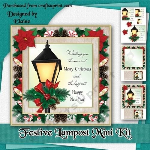 Festive Lampost Mini Kit Xmas Cards Christmas Cards Matching Gifts