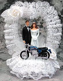 Motorcycle Wedding Cake Topper Item D621