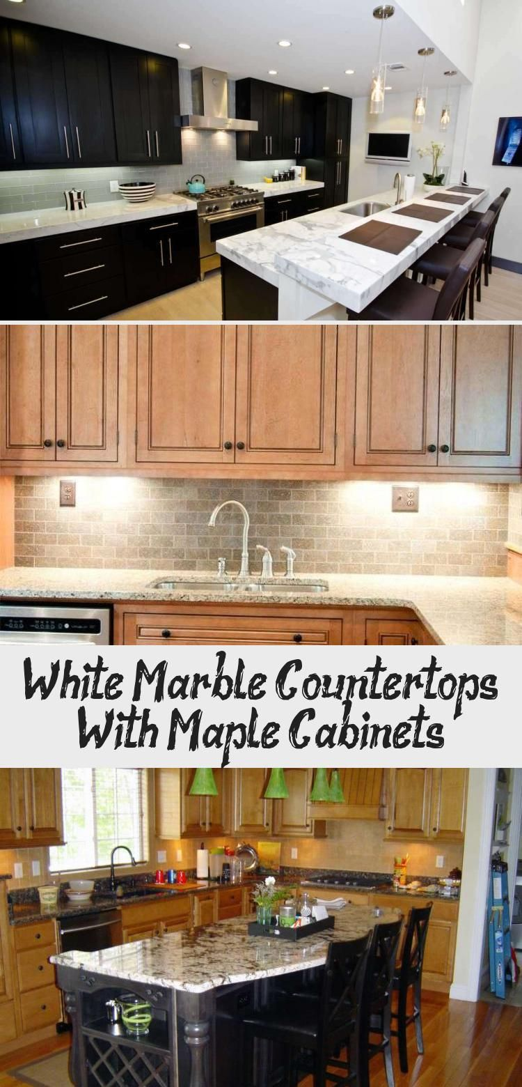 White Marble Countertops With Maple Cabinets | Maple ... on Maple Cabinets With White Granite Countertops  id=49695
