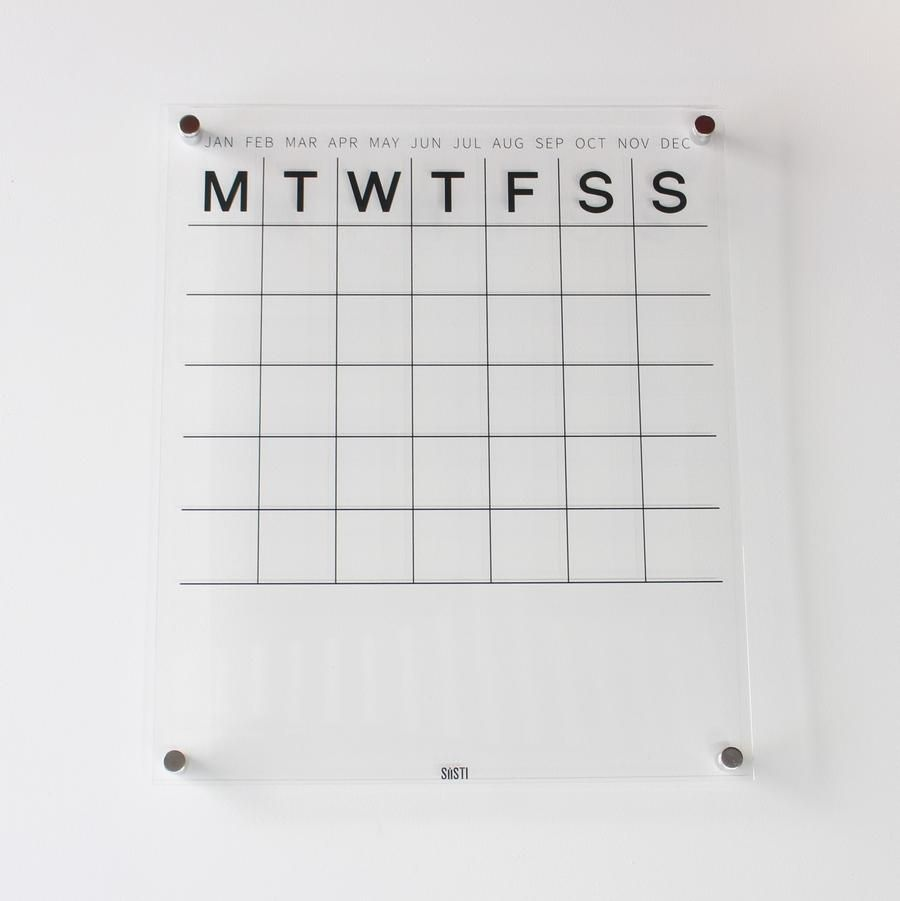Clear Acrylic Monthly Planner Board Available In Large And