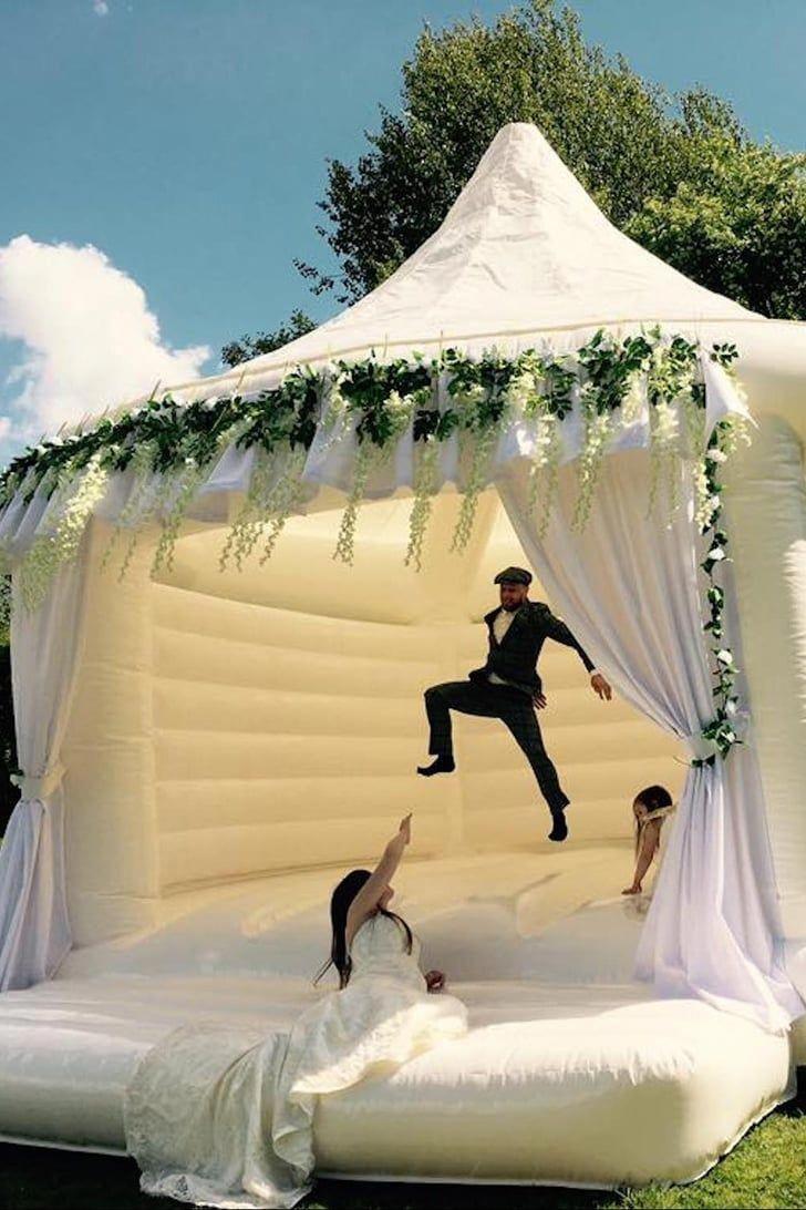 We Have 3 Words For You: Wedding Bouncy Castles! #beachwedding