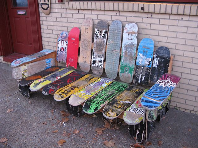 Skateboard Bench By Us Rt 40 Elm Grove Wv Via Flickr Skateboard Furniture Skateboard Skateboard Pictures