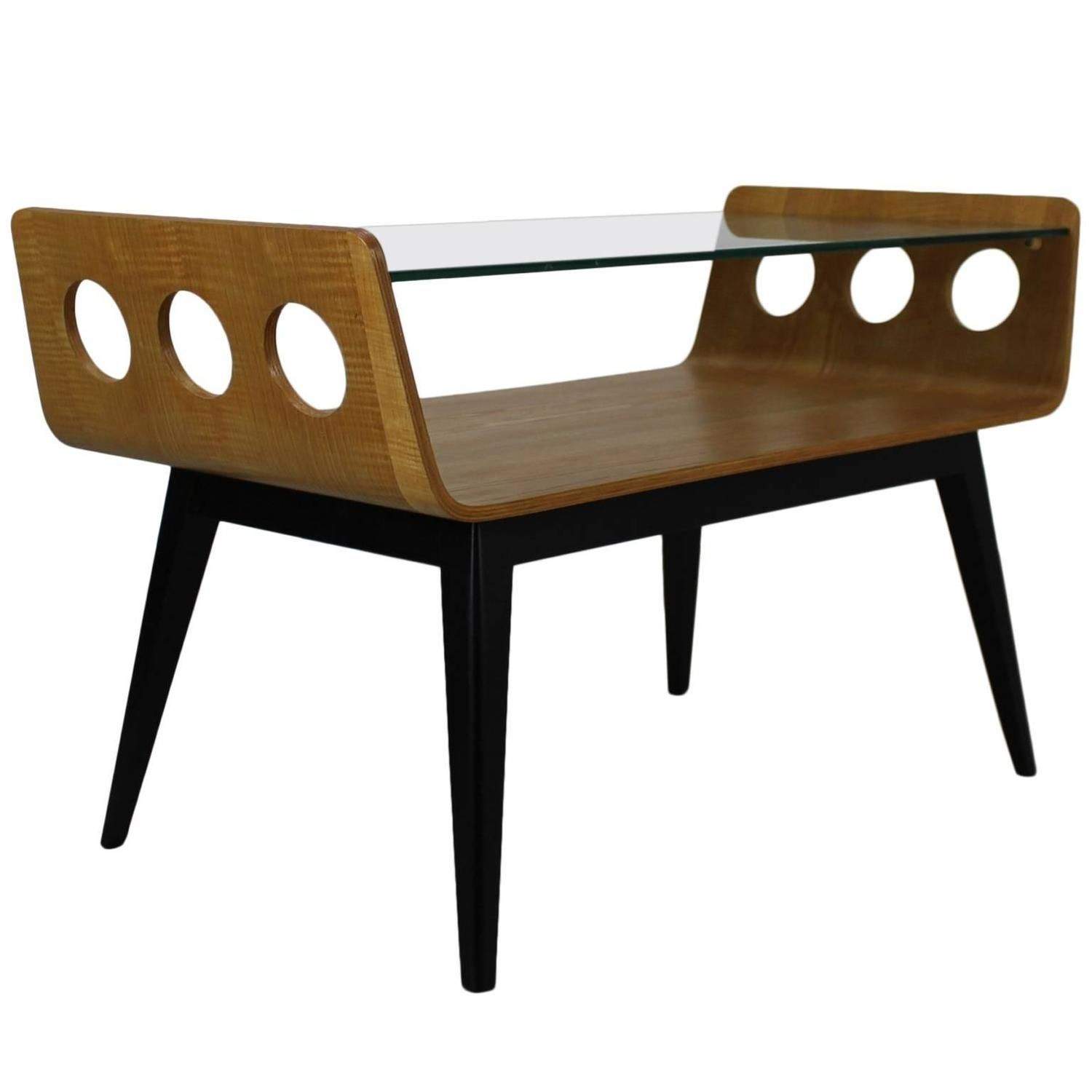 Dutch design 1950s bentwood coffee table with glass top 1950s dutch design 1950s bentwood coffee table with glass top geotapseo Gallery