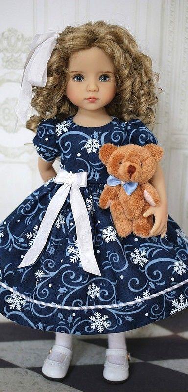 Vestidos para niñas | Hilos para tejer | Pinterest | Puppen, Puppe ...