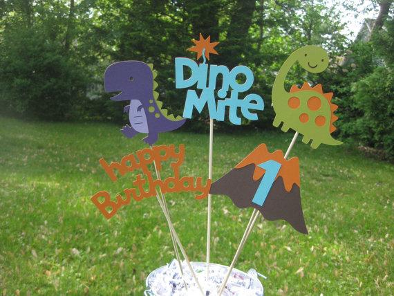 Dinosaur Table Centerpiece Dinosaur Birthday Decorations Boy