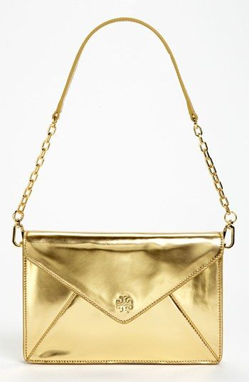 Tory Burch Viva Vachetti Large Leather Envelope Clutch Available At Nordstrom