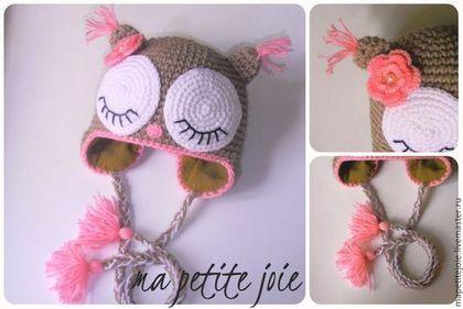 """Одежда для девочек, ручной работы. Ярмарка Мастеров - ручная работа шапочка для девочки """"совушка"""". Handmade."""