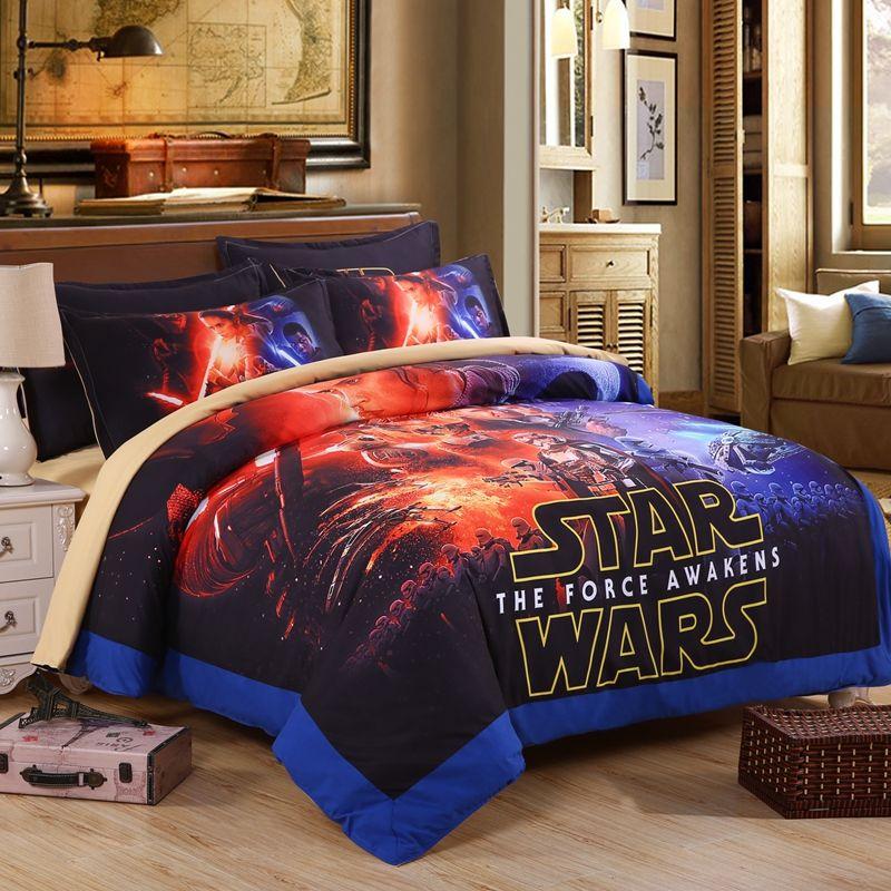 3d Star Wars Duvet Cover Set 3pcs Bedding Set Flat Sheets