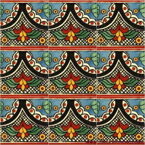 Mexican Hand Painted Tiles With Images