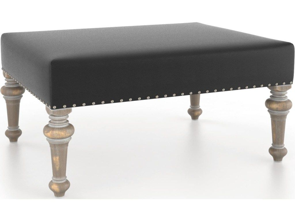 Attractive Canadel Champlain   Living Customizable Rectangular Ottoman With Nailheads    Jacksonville Furniture Mart   Ottomans