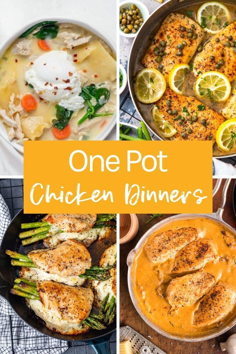 One Pot Chicken Recipes Chicken Dinner Easy Chicken Recipes Chicken Lunch Recipes