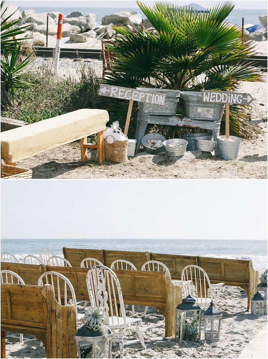 vintage beach wedding in carpenteria at rincon beach club it had