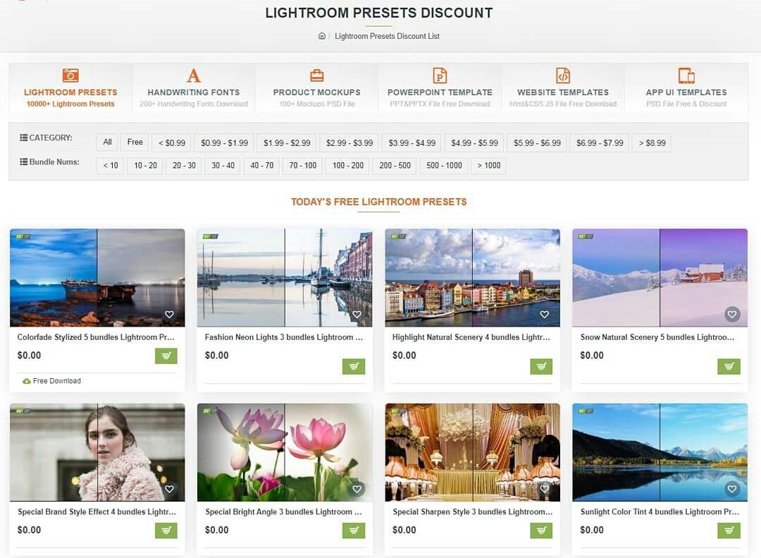 Lightroom Presets Discount List in 2020 Lightroom