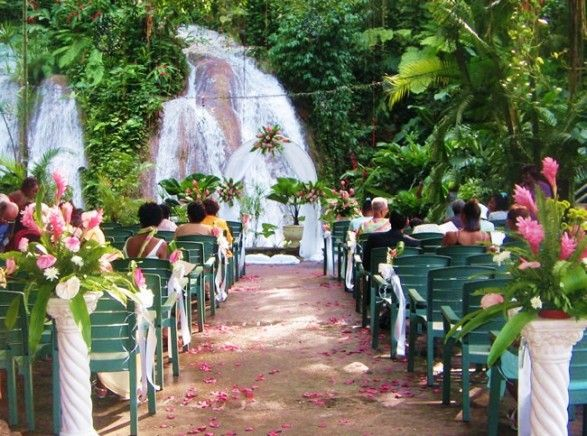 I Love The Water Fall Backdrop 3 Jamaica Jamaican Wedding Waterfall Wedding Jamaica Wedding