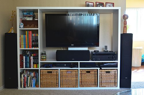 Ikea Hack Mounting Your Tv To The Lappland Expedit Play Room