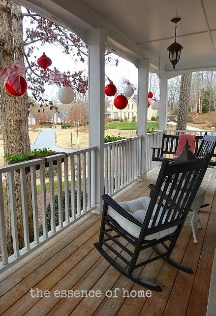 13 stunning christmas porch decor ideas christmas front porch decorations outdoor christmas decor porches - Christmas Porch Railing Decorations