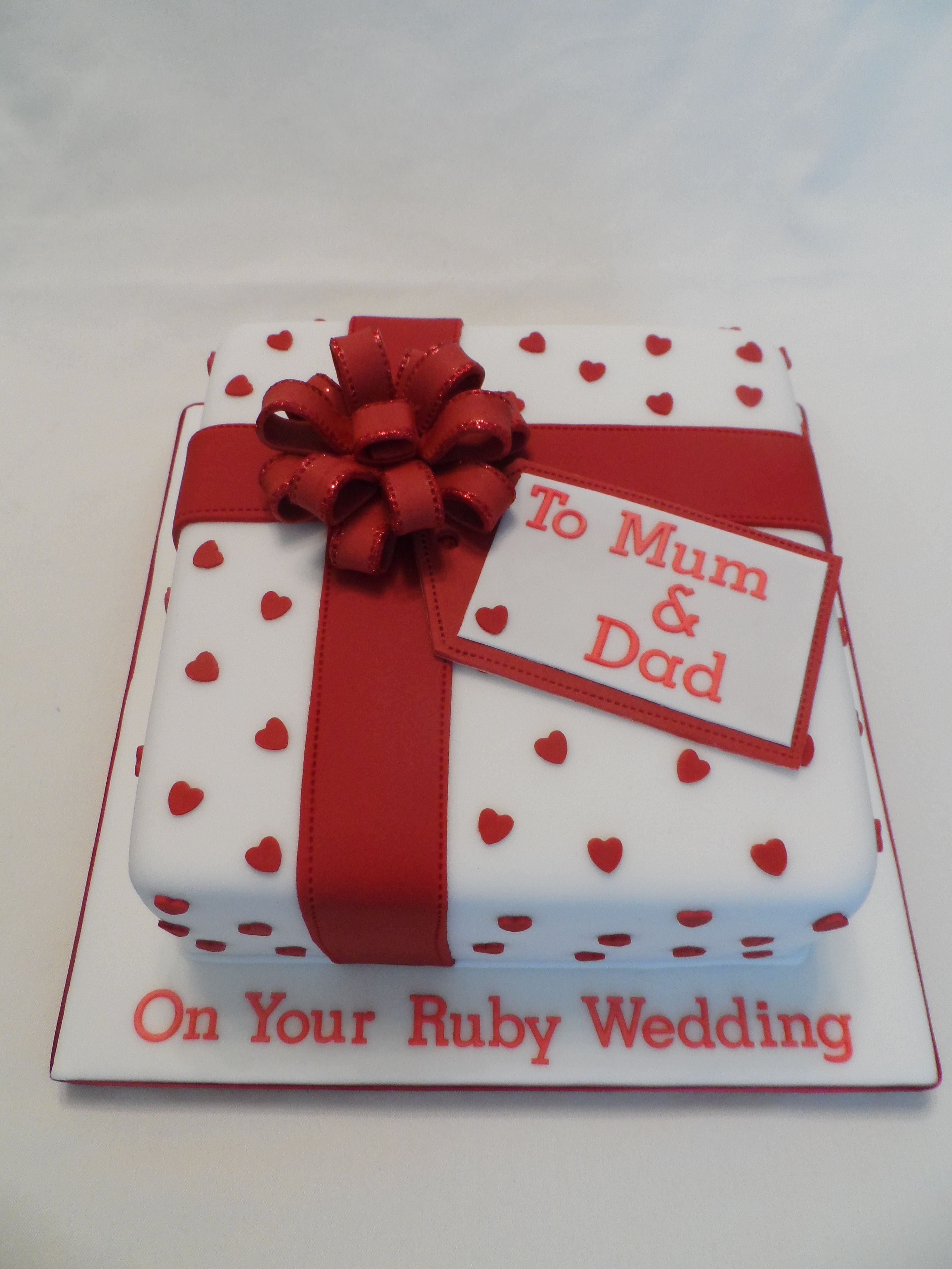 Ruby Wedding Anniversary Cake For All Your Decorating Supplies Please Visit