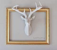 Faux Ceramic Deer Head In Frame At Z Gallerie Deer Decor Ceramic Deer Head Deer Head Decor