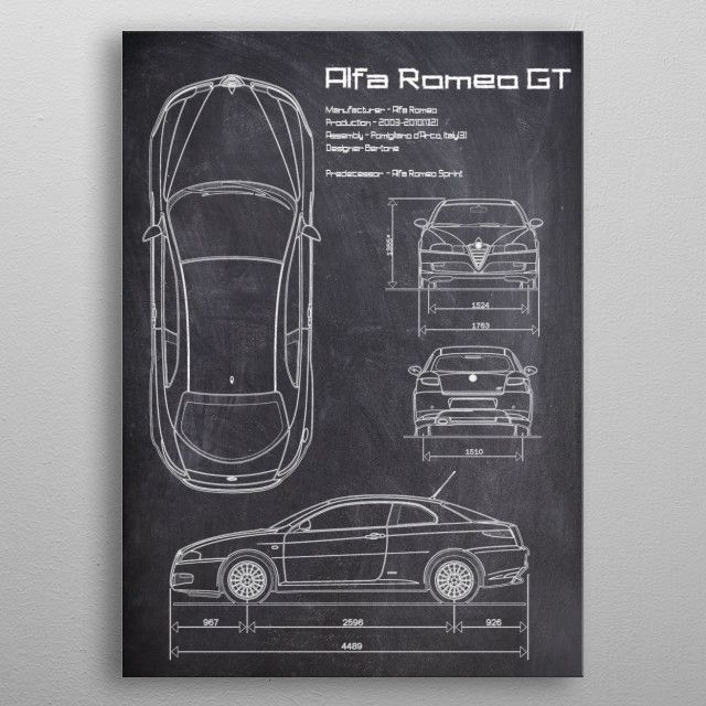 The Alfa Romeo GT (Type 937) is a coupe automobile that was produced by…   Displate thumbnail