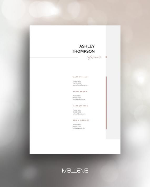 Resume Template 5 page / CV Template + Cover Letter / Instant Download for MS Word / Ashley