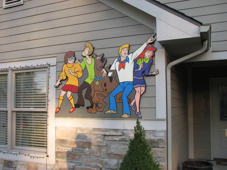 Scooby Doo Halloween Yard Art Plywood Cutouts Halloween Yard Art Halloween Yard Scooby Doo Halloween