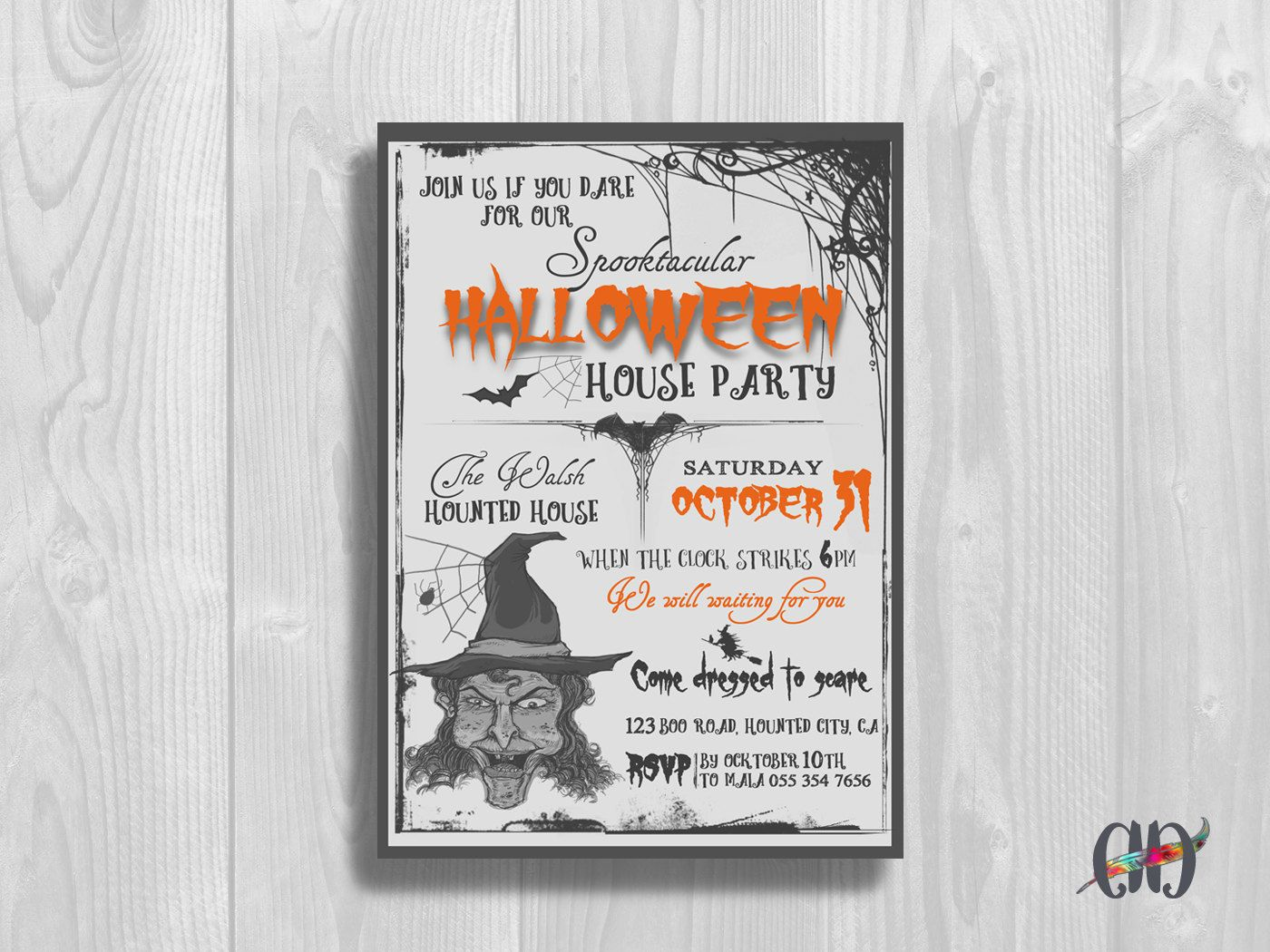 REPIN NOW for later! Halloween Invitation Printable Halloween Party ...