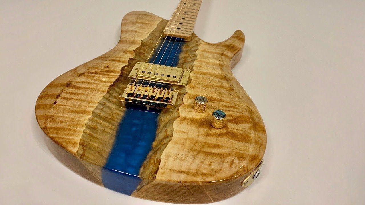 I Built An Epoxy Resin River Guitar Youtube Diy Instruments
