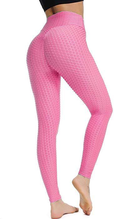 579371812b2eb SEASUM Women s High Waist Yoga Pants Tummy Control Slimming Booty Leggings  Workout Running Butt Lift Tights L at Amazon Women s Clothing store
