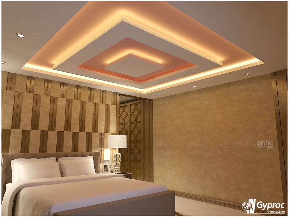 This graceful falseceiling will definitely change the for Bedroom gypsum ceiling designs photos