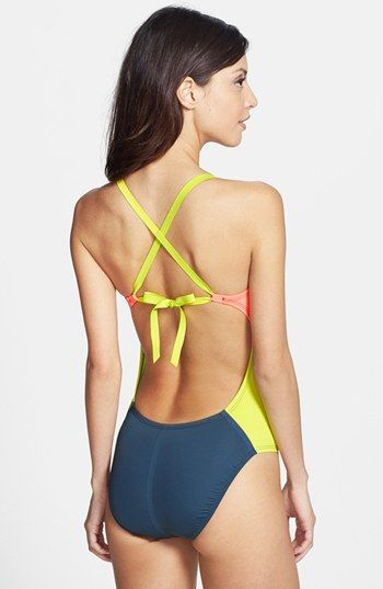 b2df2702e0 Nike Bondi Block One-Piece Swimsuit   Nordstrom   Sexy Swimwear ...