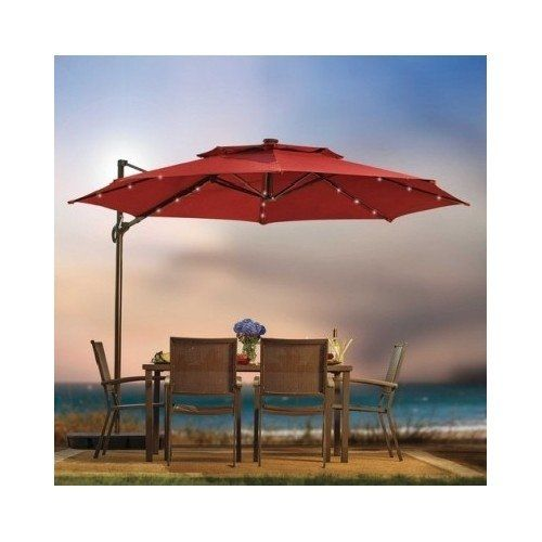Outdoor Patio Cantilever Umbrella 11 Foot Round Canopy Wi Https Www Amazon Com Dp B00tvzimhi Ref Patio Rectangular Patio Umbrella Outdoor Patio Umbrellas