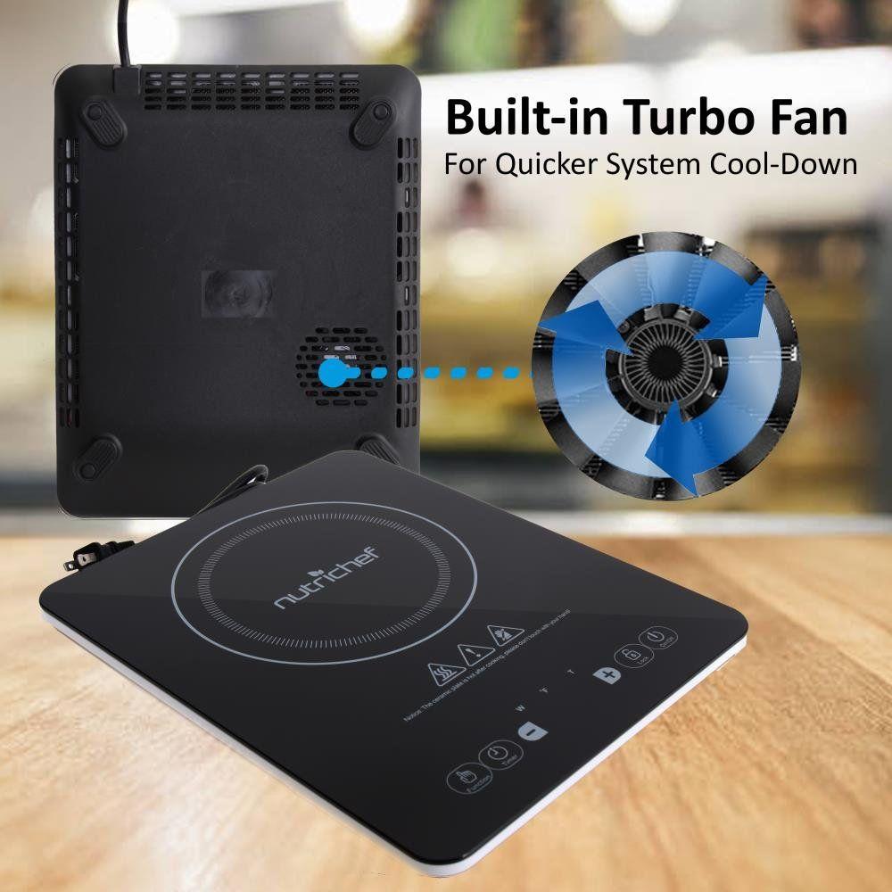 Nutrichef Portable 120v Electric Induction Cooker Cooktop Digital