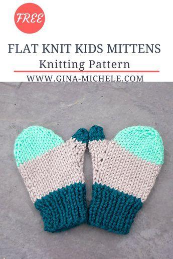 Flat Knit Kids Mittens Knitting Pattern Mittens Knitting