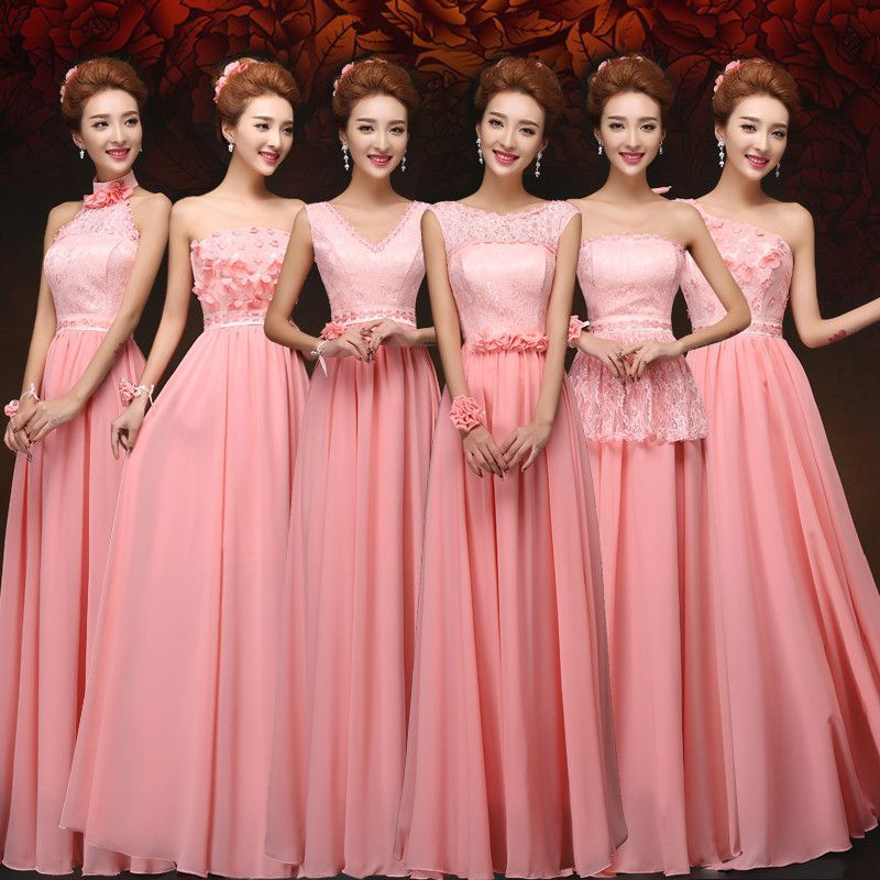 2016 New Arrival Long Coral Colored Dresses Plus Size Party Dress ...