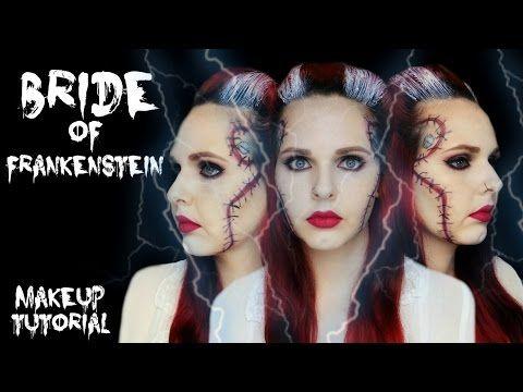 bride of frankenstein halloween makeup tutorial youtube poescat youtube videos pinterest makeup tutorials youtube and makeup