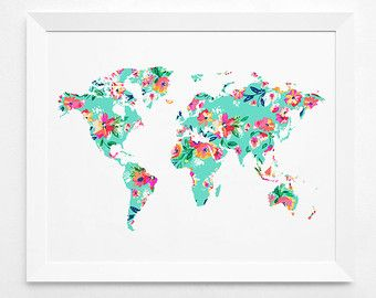 Geometric world map art print instant download by decorartdesign geometric world map art print instant download by decorartdesign gumiabroncs Choice Image