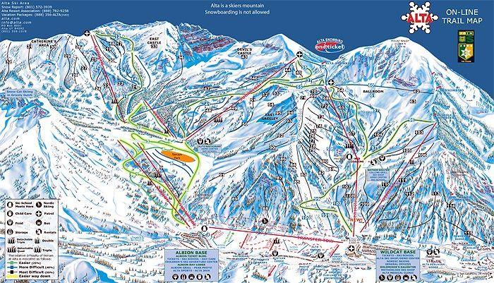 Alta is for Skiers :) Alta, UT | Ski. Established in 1985 ... Ski Utah Map on jackson hole map, snowbird lodging map, salt lake city international airport map, ski north carolina, ski home, california skiing map, disney map, ski tram, sundance map, downtown salt lake city map, ski nebraska,