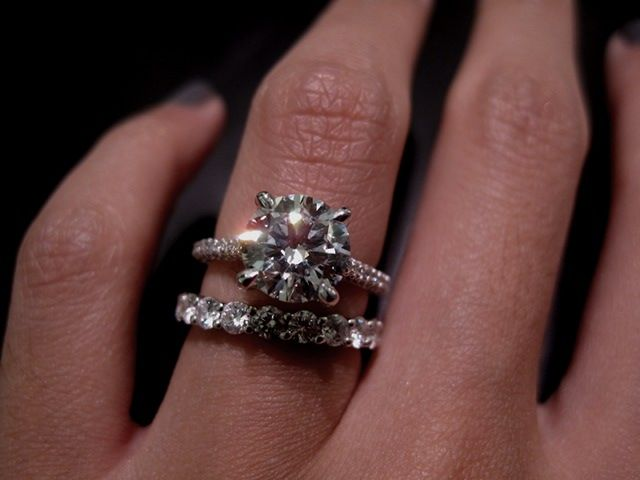 Engagement Ring Is Paris A Single Row Micro Pave By Michael