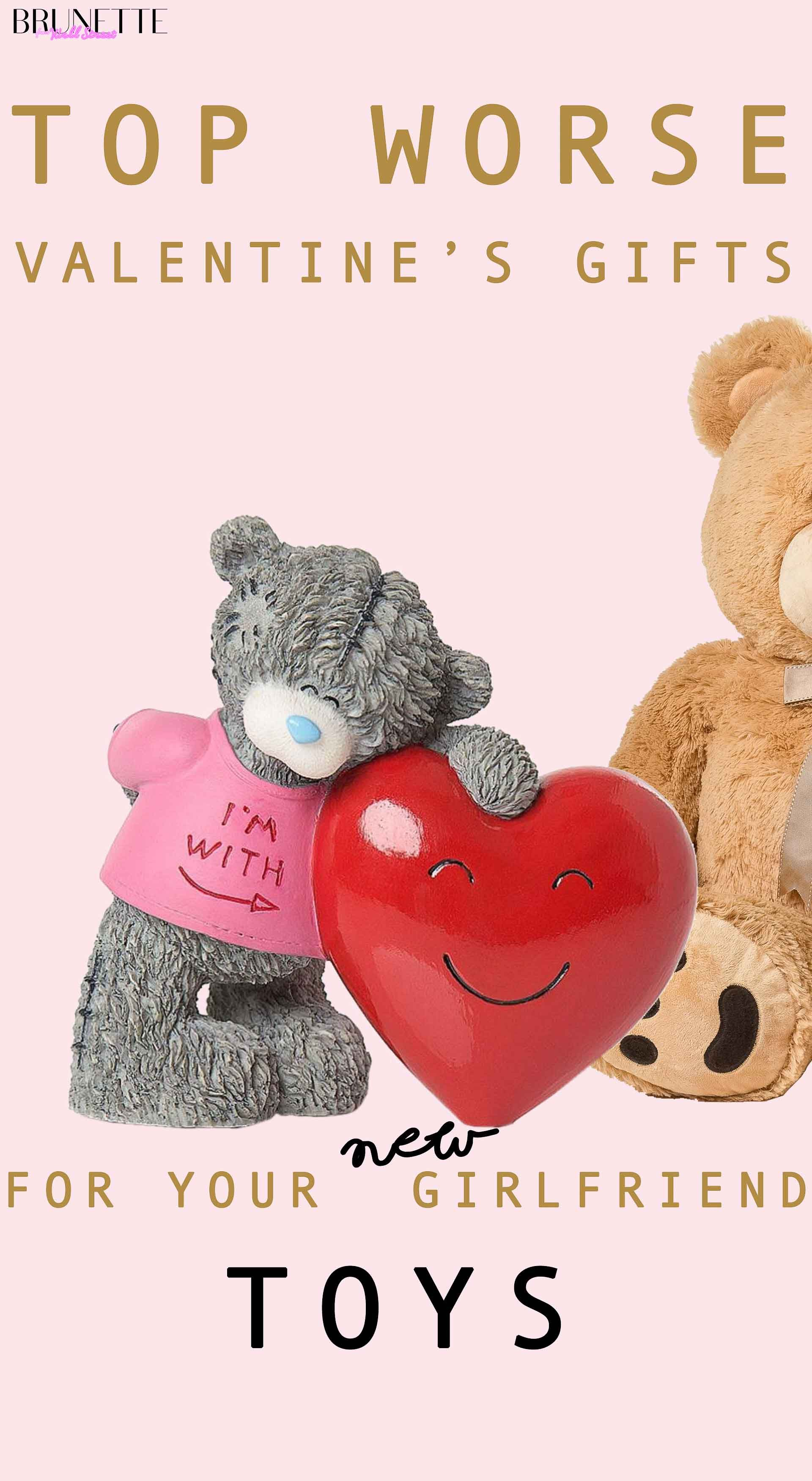 Teddy Tatty Figure Brown Bear With Text Overlay Top Worse Valentines Gifts For Your New Girlfrend Toys